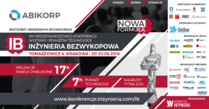 Jesteśmy sponsorem Srebrnym XVI Konferencji INŻYNIERIA Bezwykopowa 2018